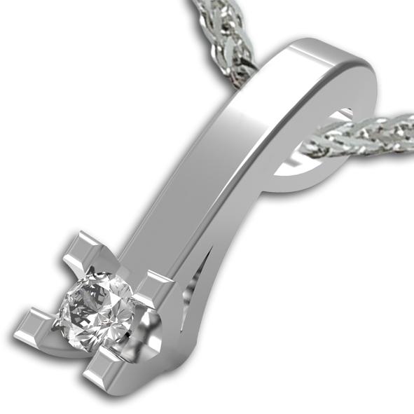 PB1631BIA - Girocollo in oro bianco 18 kt con diamanti in diverse carature
