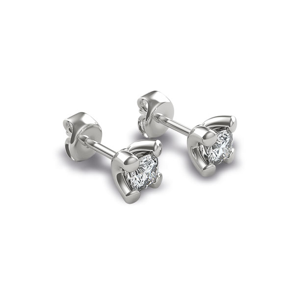 OB791BIA - Orecchini in oro bianco 18 kt con diamanti in diverse carature