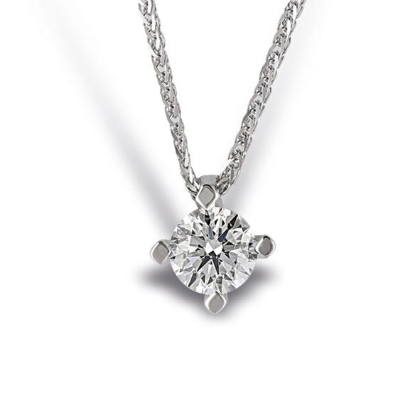 PB1550BIA - Girocollo in oro bianco 18 kt con diamanti in diverse carature