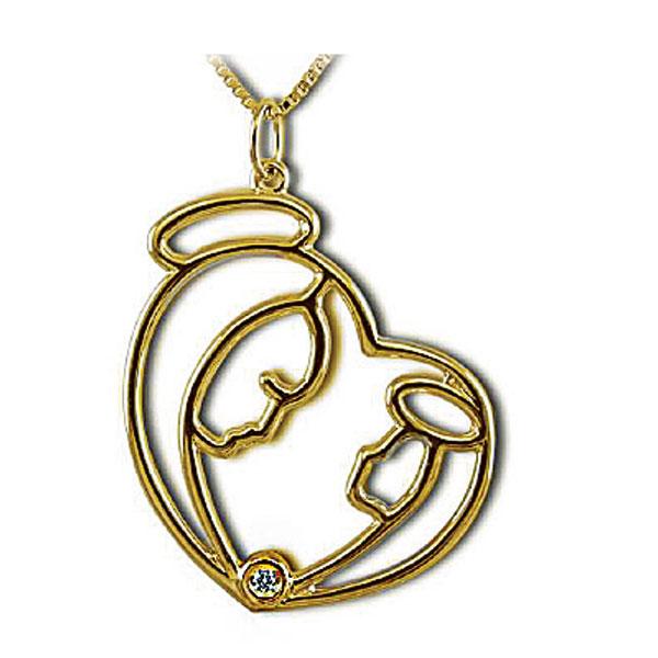 PB1600GIA - Girocollo in oro giallo 18 kt con diamanti
