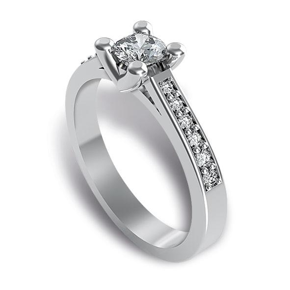 SF720BIA - Anello Fantasia in oro bianco 18 kt con diamanti