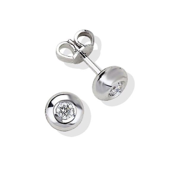 TAGOB031 - Orecchini in Argento 925‰ con diamanti in diverse carature