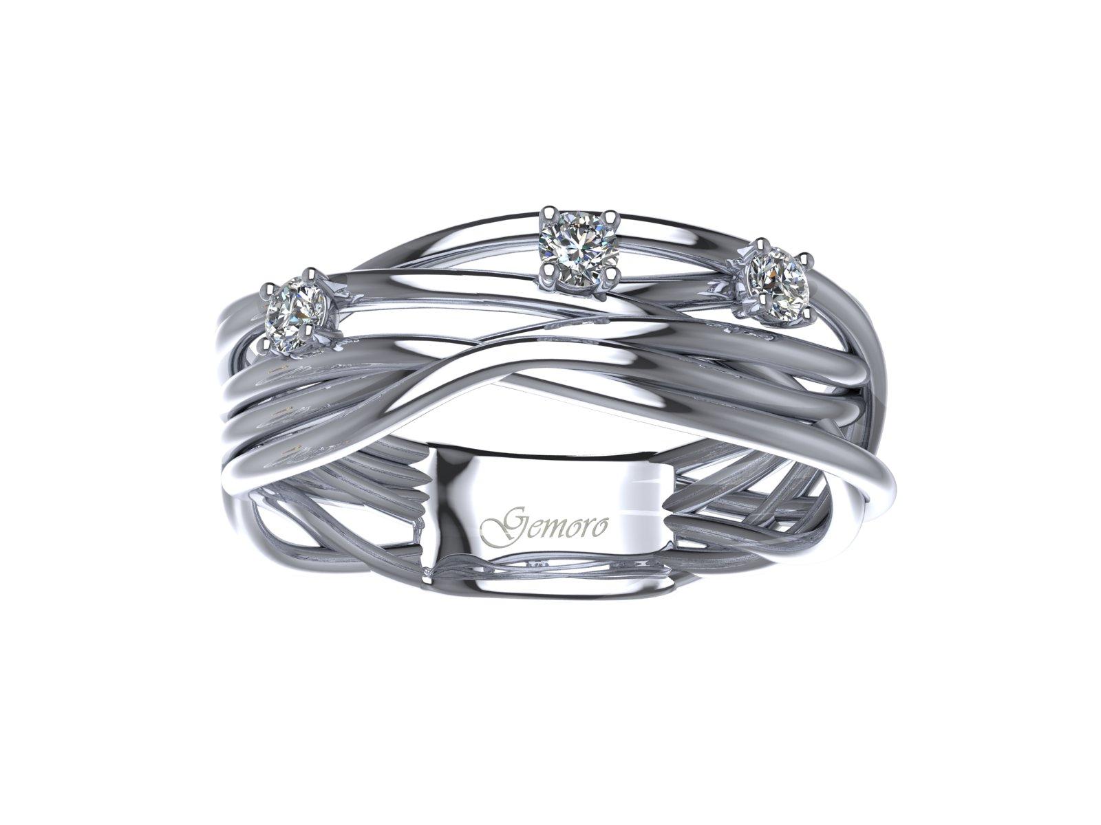 AB1069BIA – Anello in oro 18kt con Diamanti Naturali taglio Brillante