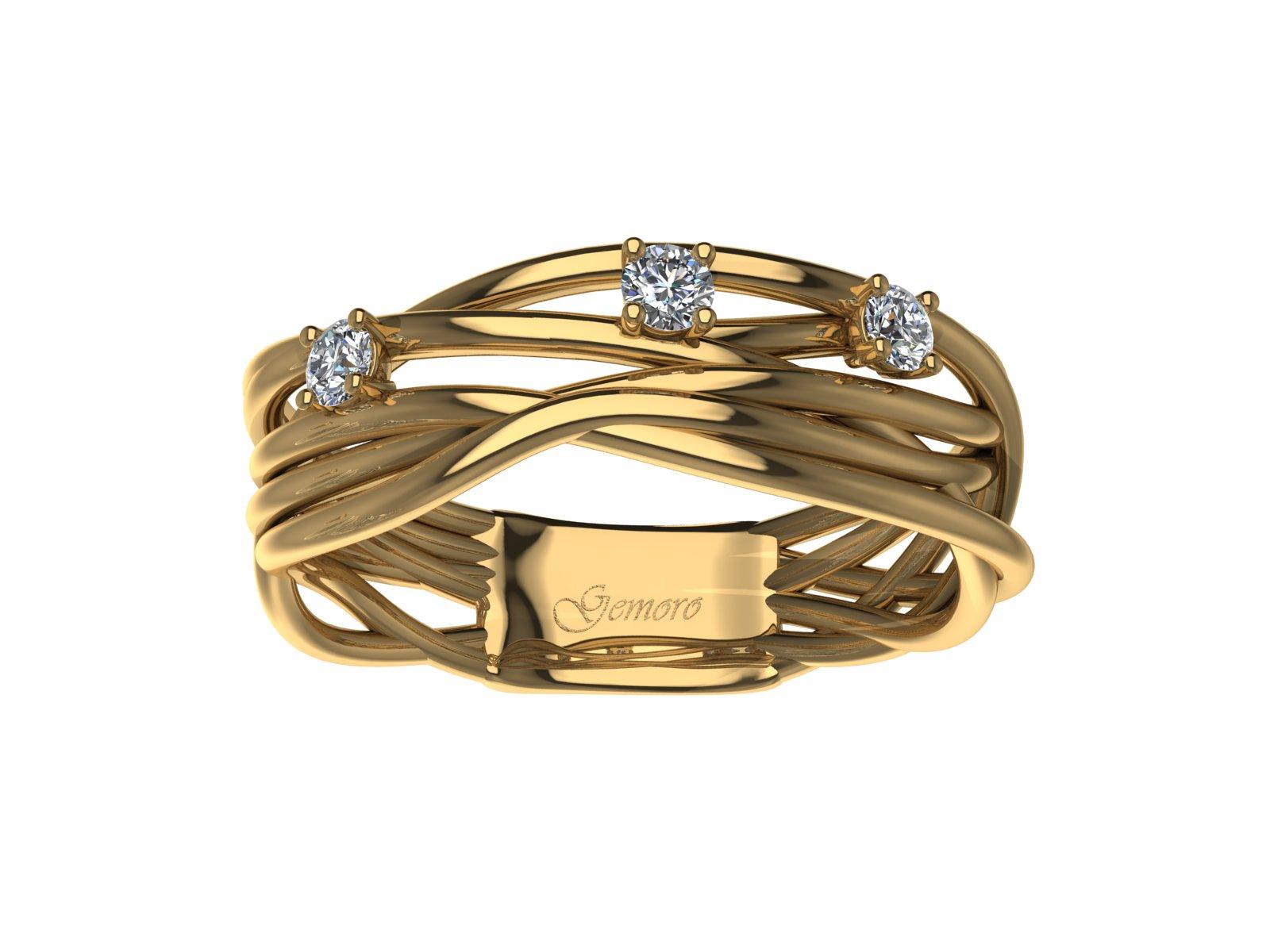 AB1069GIA – Anello in oro 18kt con Diamanti Naturali taglio Brillante