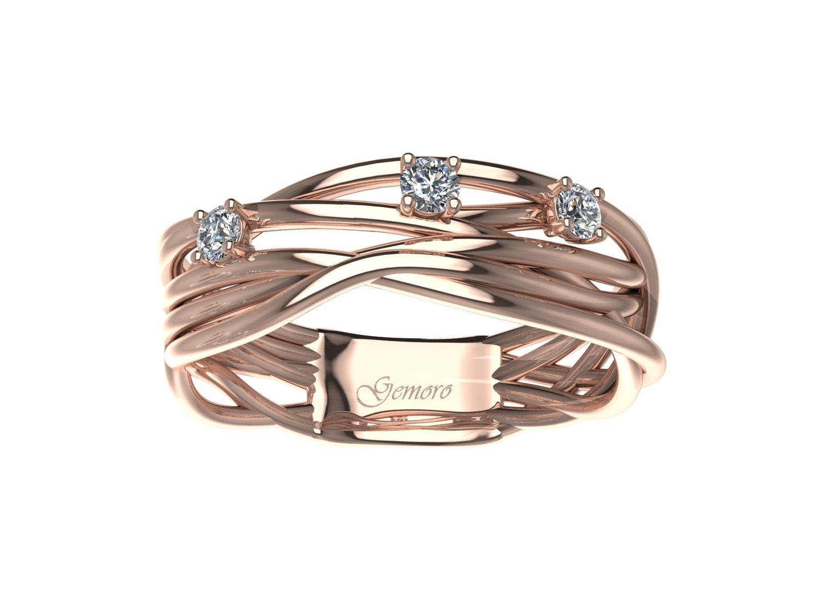 AB1069ROS – Anello in oro 18kt con Diamanti Naturali taglio Brillante