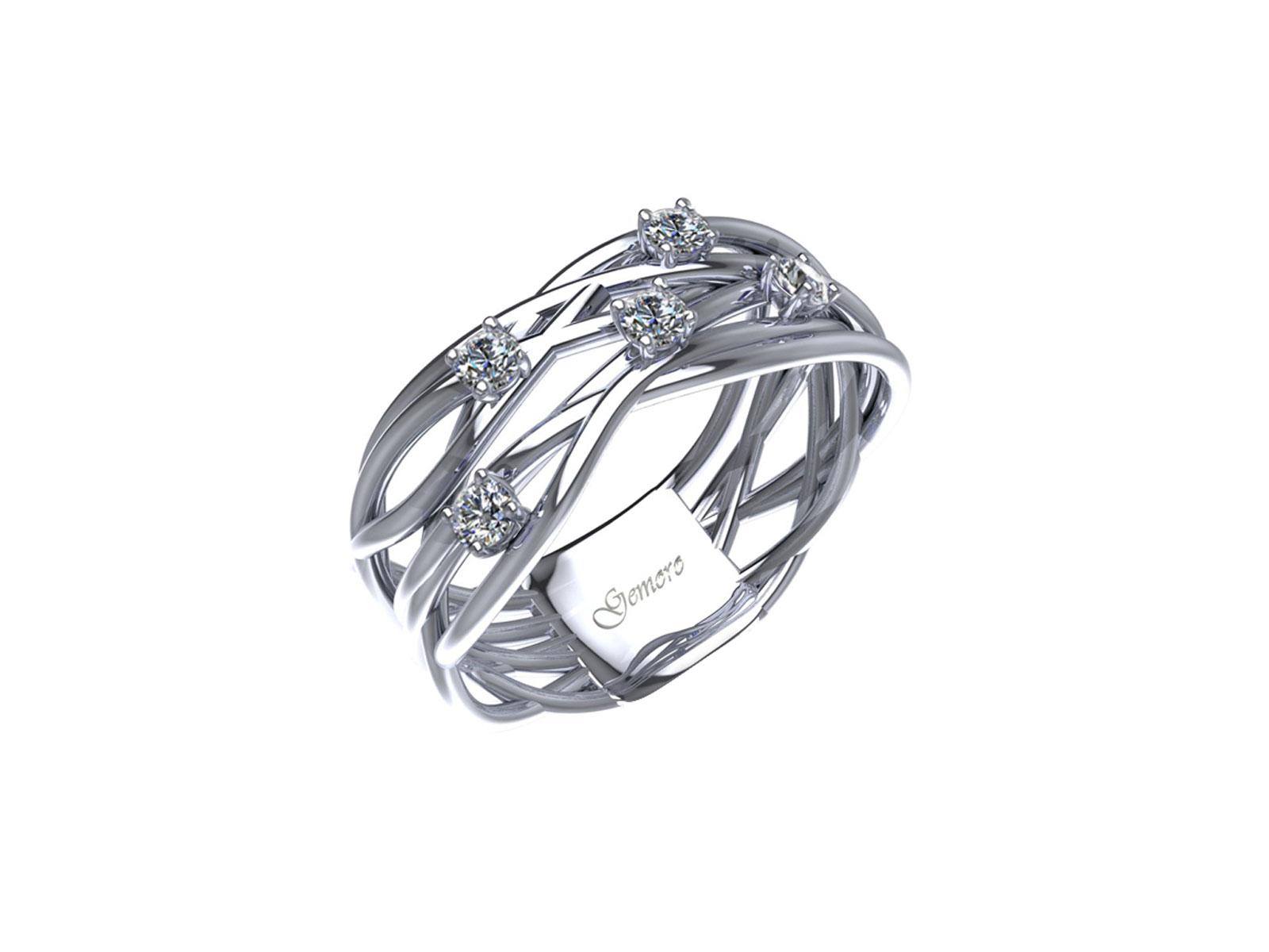 AB1070BIA – Anello in oro 18kt con Diamanti Naturali taglio Brillante