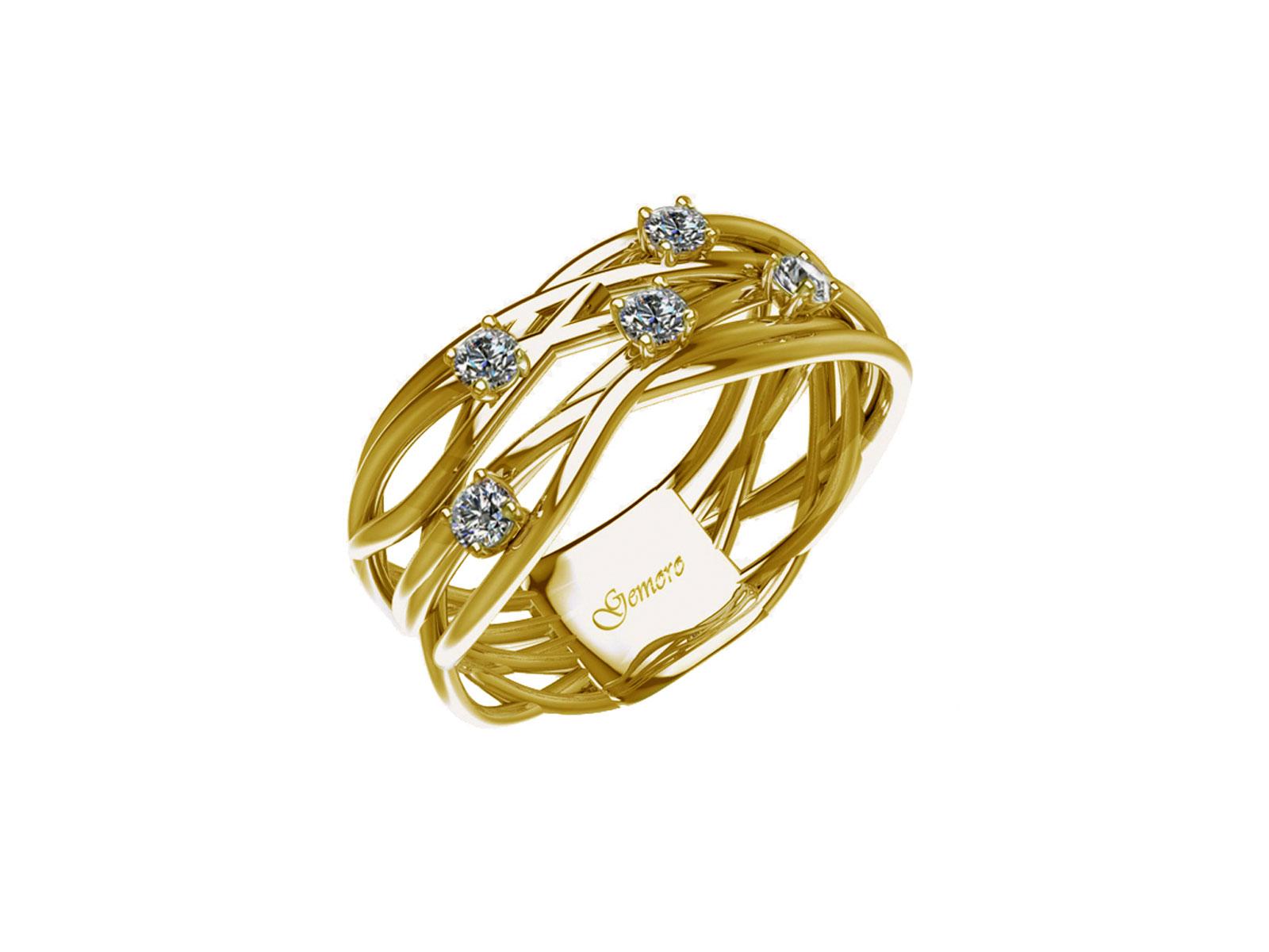 AB1070GIA – Anello in oro 18kt con Diamanti Naturali taglio Brillante