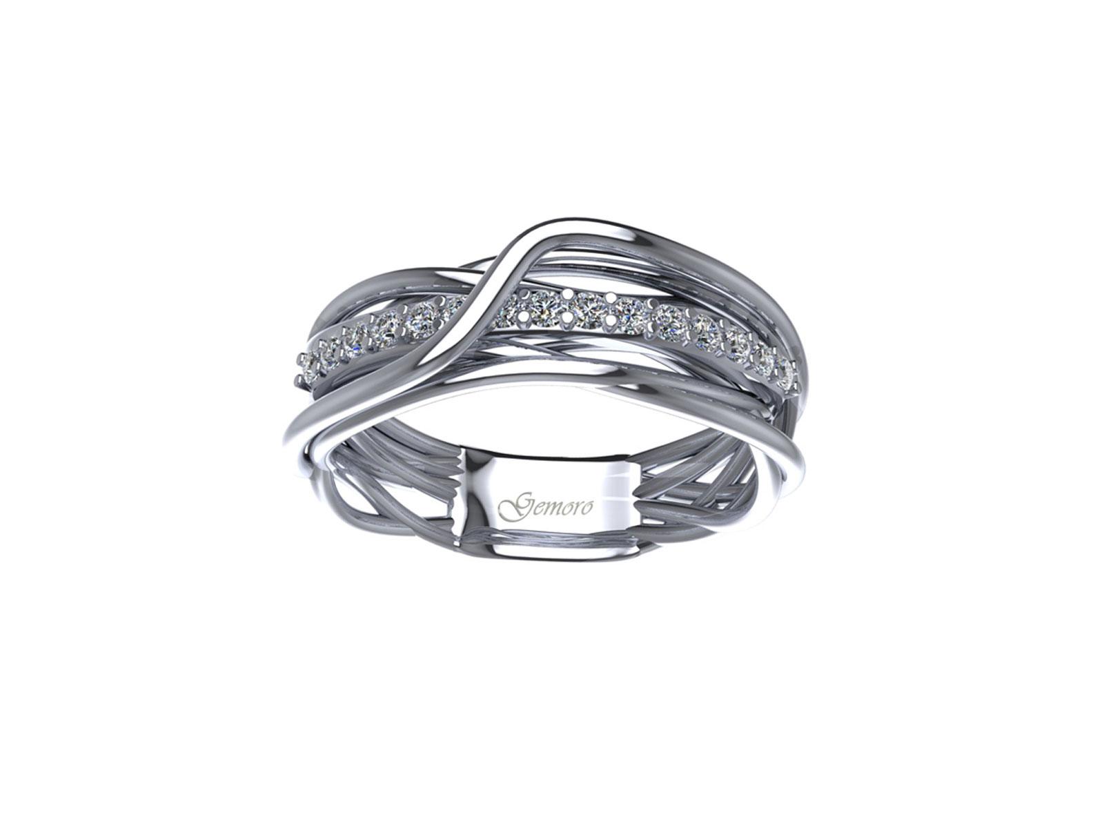 AB1071BIA – Anello in oro 18kt con Diamanti Naturali taglio Brillante