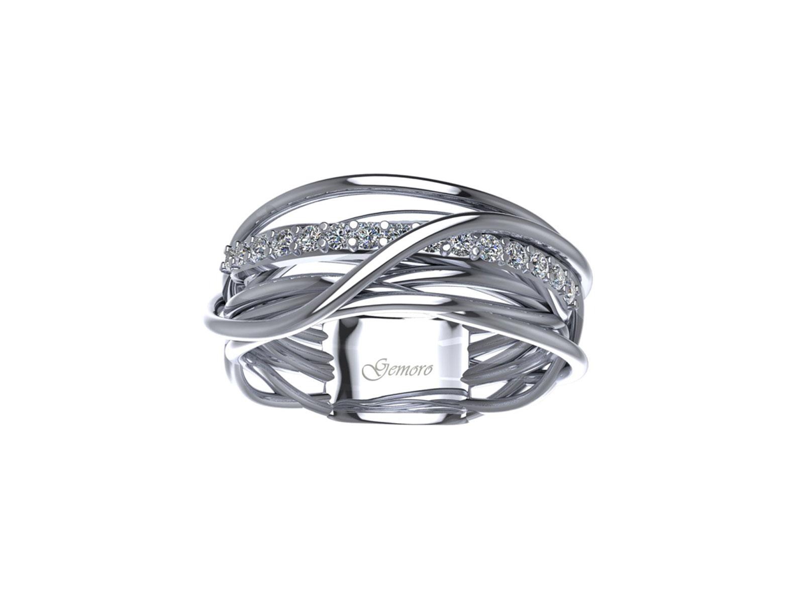 AB1073BIA – Anello in oro 18kt con Diamanti Naturali taglio Brillante