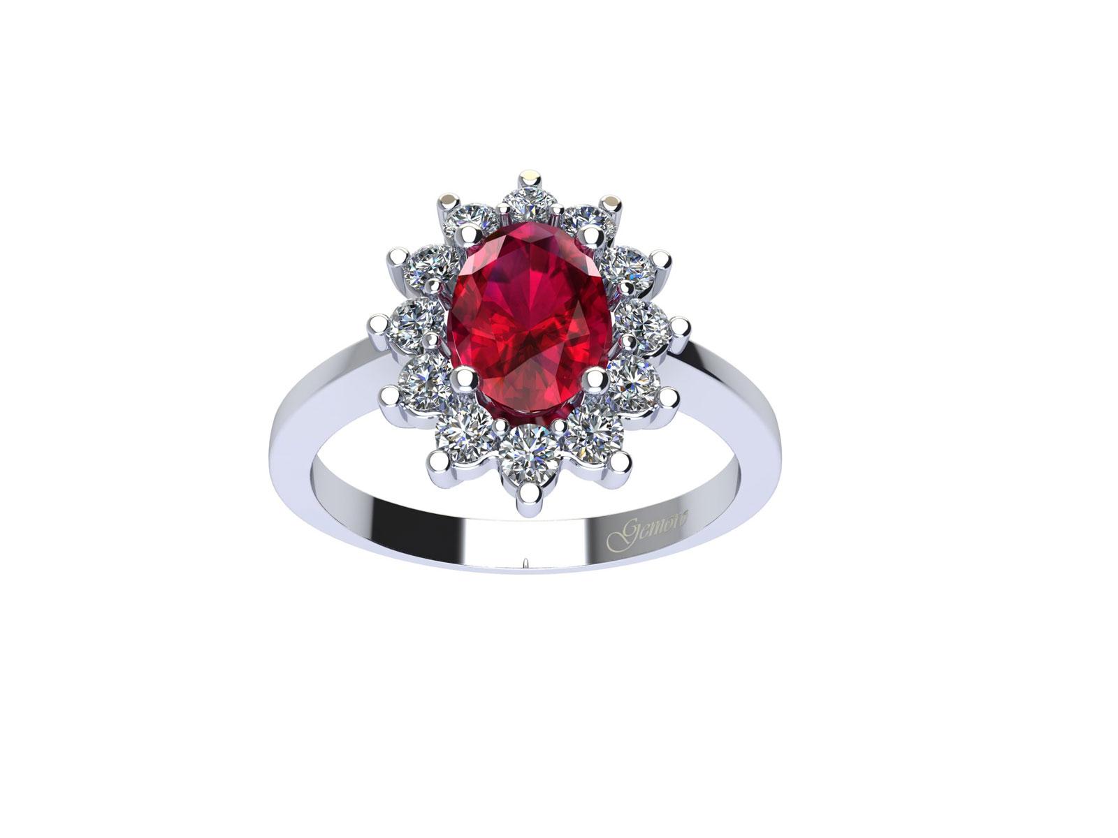 AC209BIA.RB – Anello in oro 18kt con Rubino Naturale e Diamanti Naturali