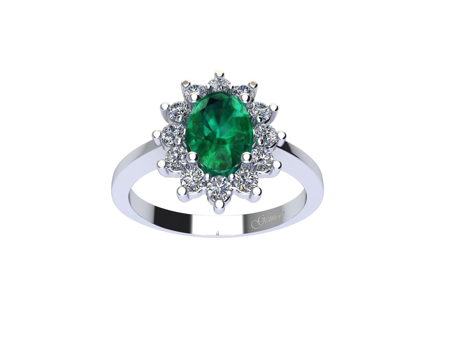 AC209BIA.SM – Anello in oro 18kt con Smeraldo Naturale e Diamanti Naturali