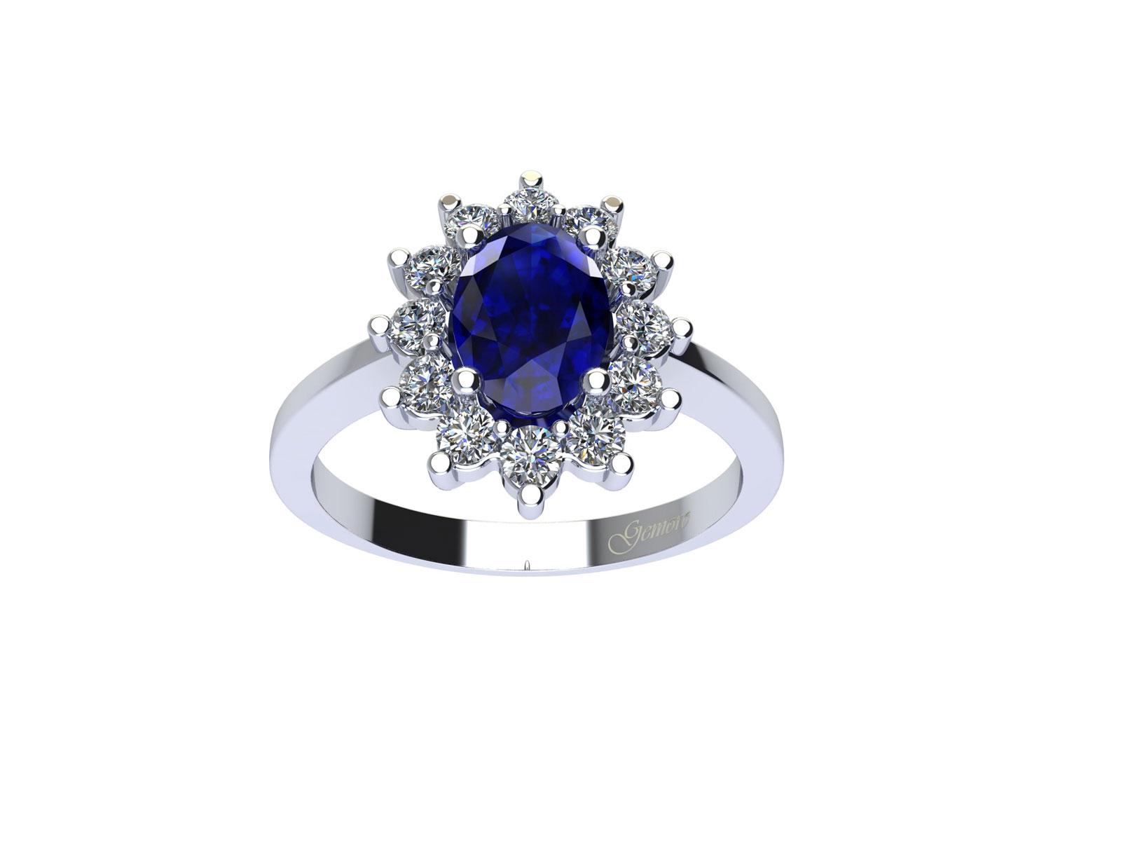 AC209BIA.ZF – Anello in oro 18kt con Zaffiro Naturale e Diamanti Naturali