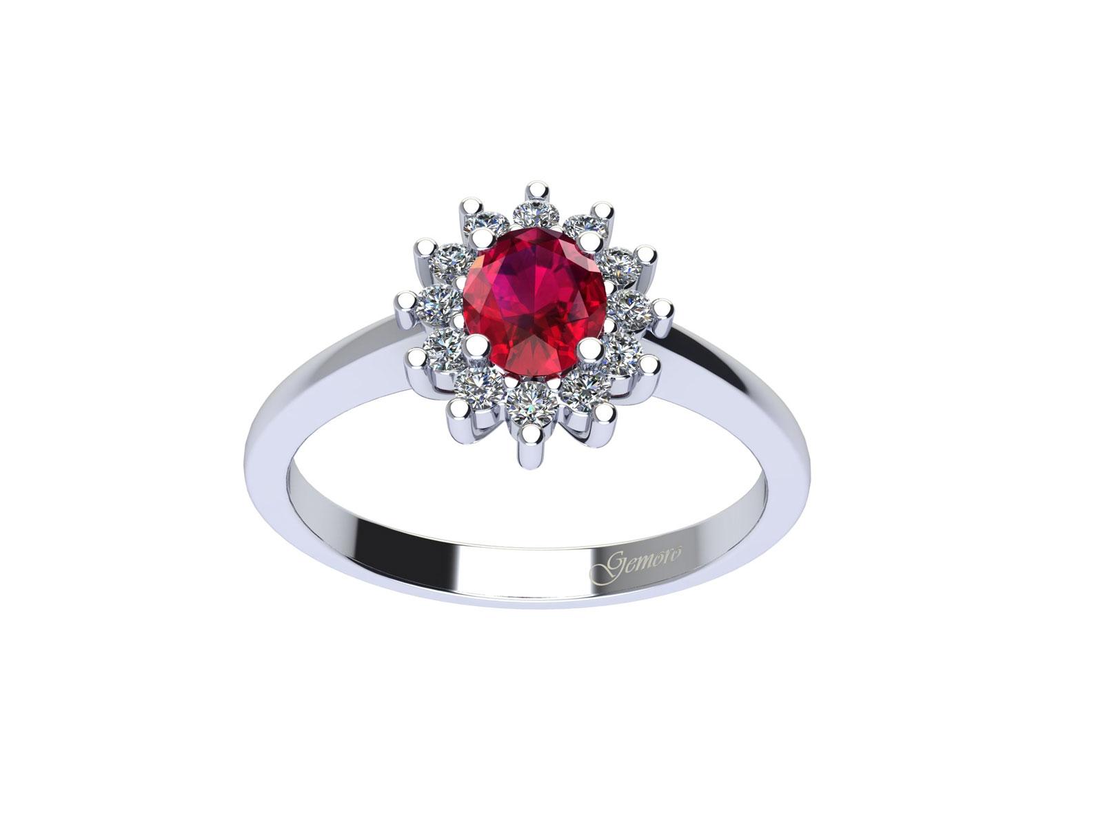 AC394BIA.RB – Anello in oro 18kt con Rubino Naturale e Diamanti Naturali