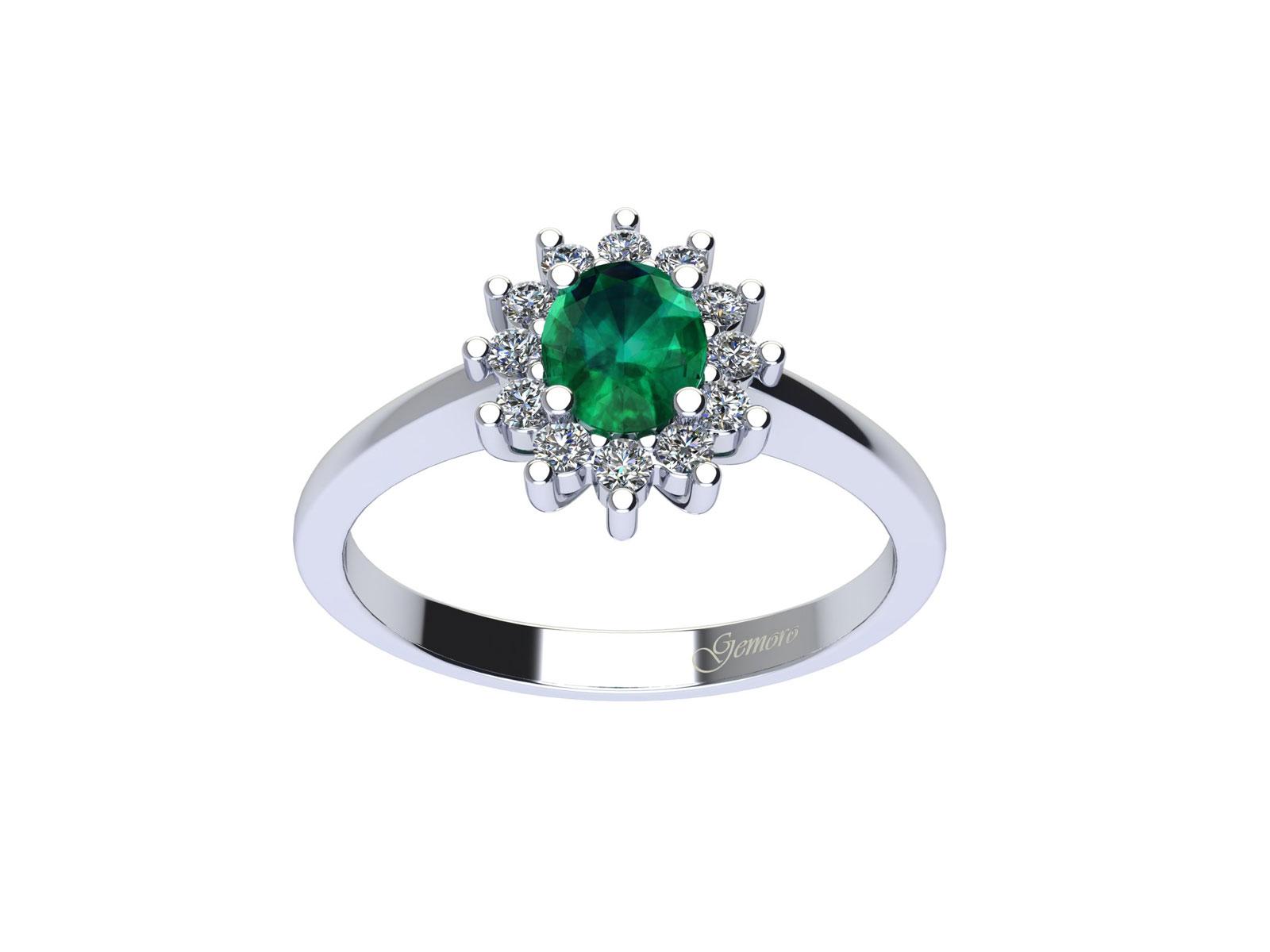 AC394BIA.SM – Anello in oro 18kt con Smeraldo Naturale e Diamanti Naturali