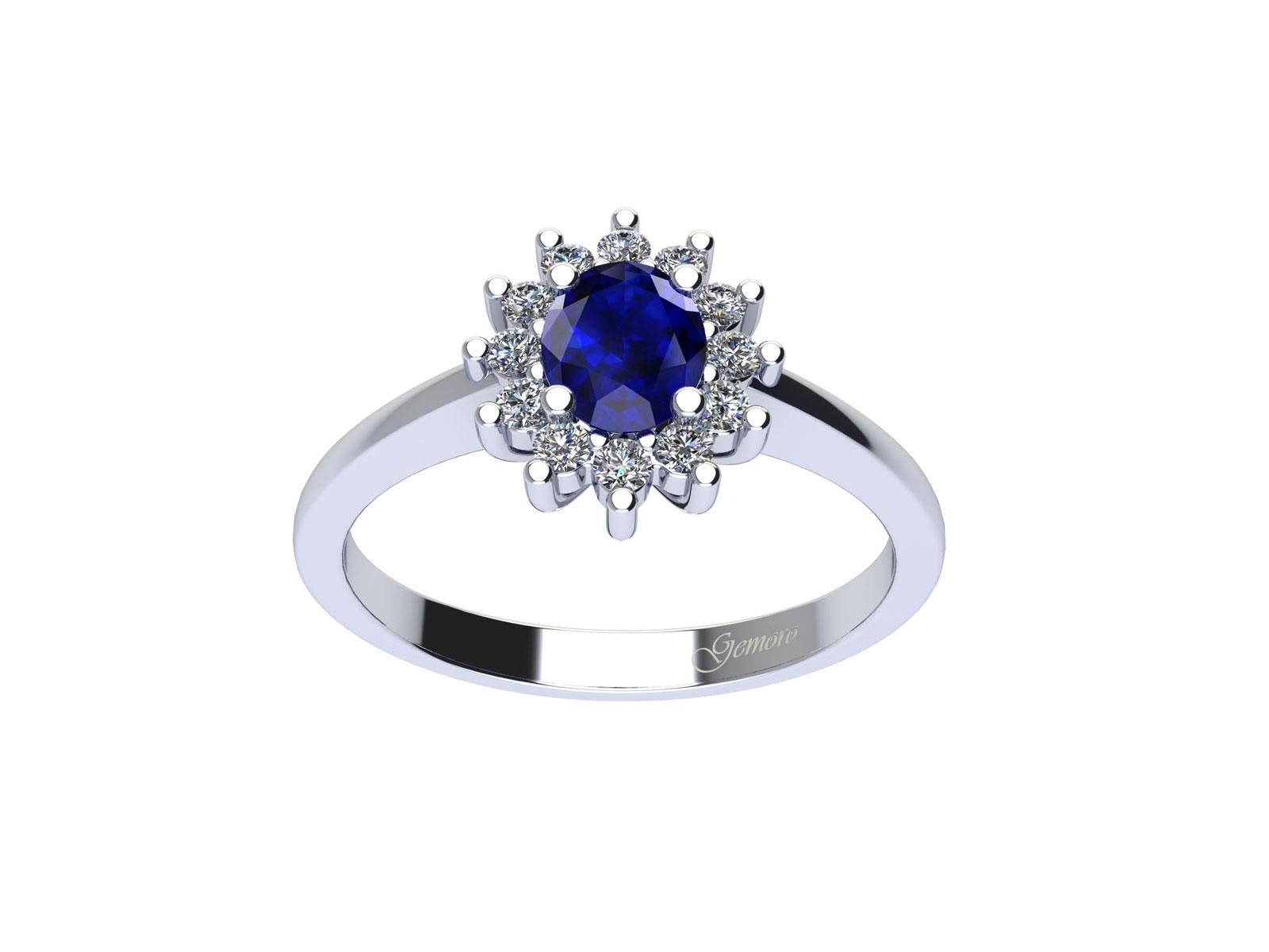 AC394BIA.ZF – Anello in oro 18kt con Zaffiro Naturale e Diamanti Naturali