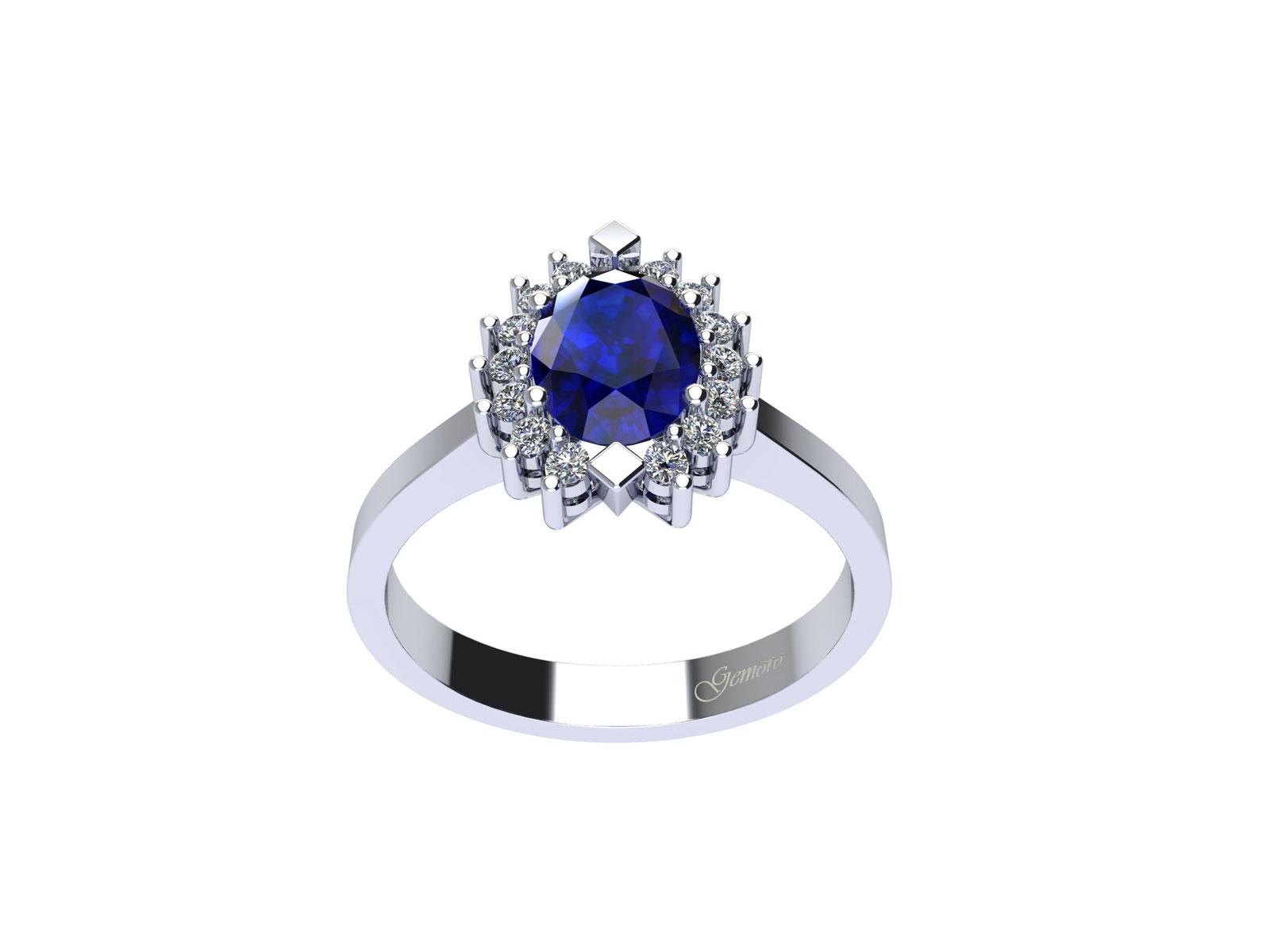 AC397BIA.ZF – Anello in oro 18kt con Zaffiro Naturale e Diamanti Naturali
