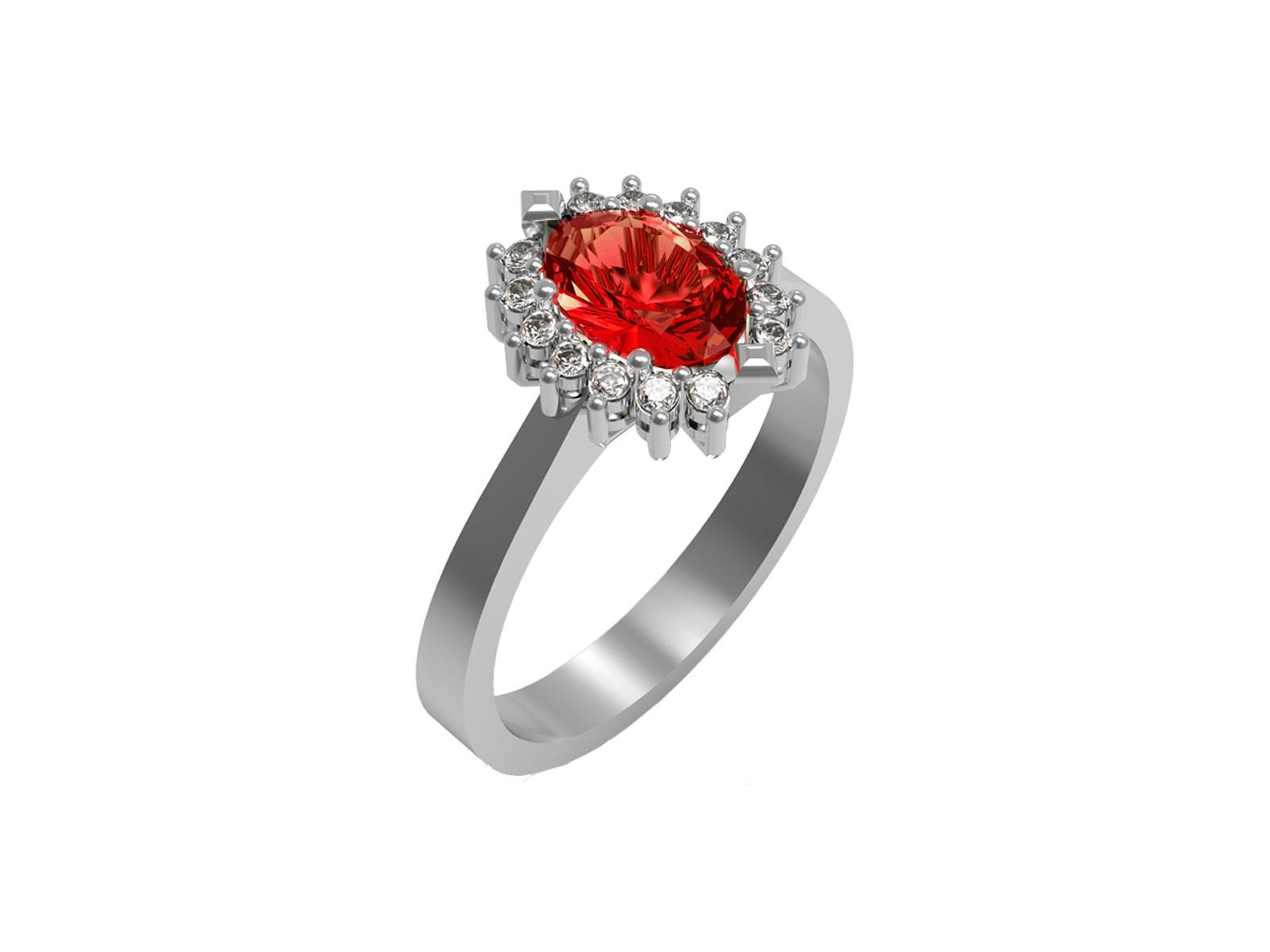 AC397BIA.BR.RB – Anello in oro rosa 18kt con Rubino Naturale e Diamanti Naturali
