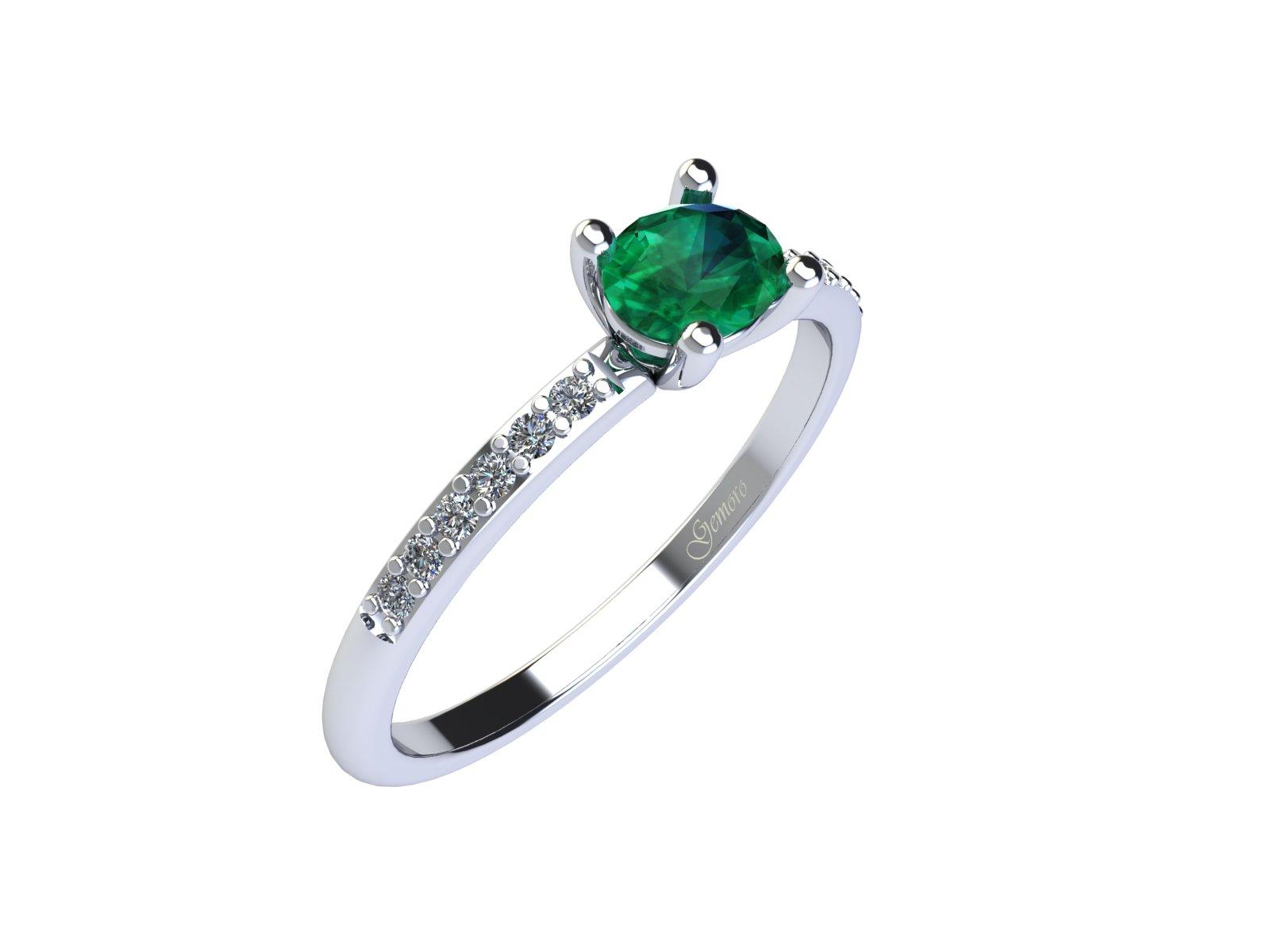 AC400BIA.SM – Anello in oro 18kt con Smeraldo Naturale e Diamanti Naturali