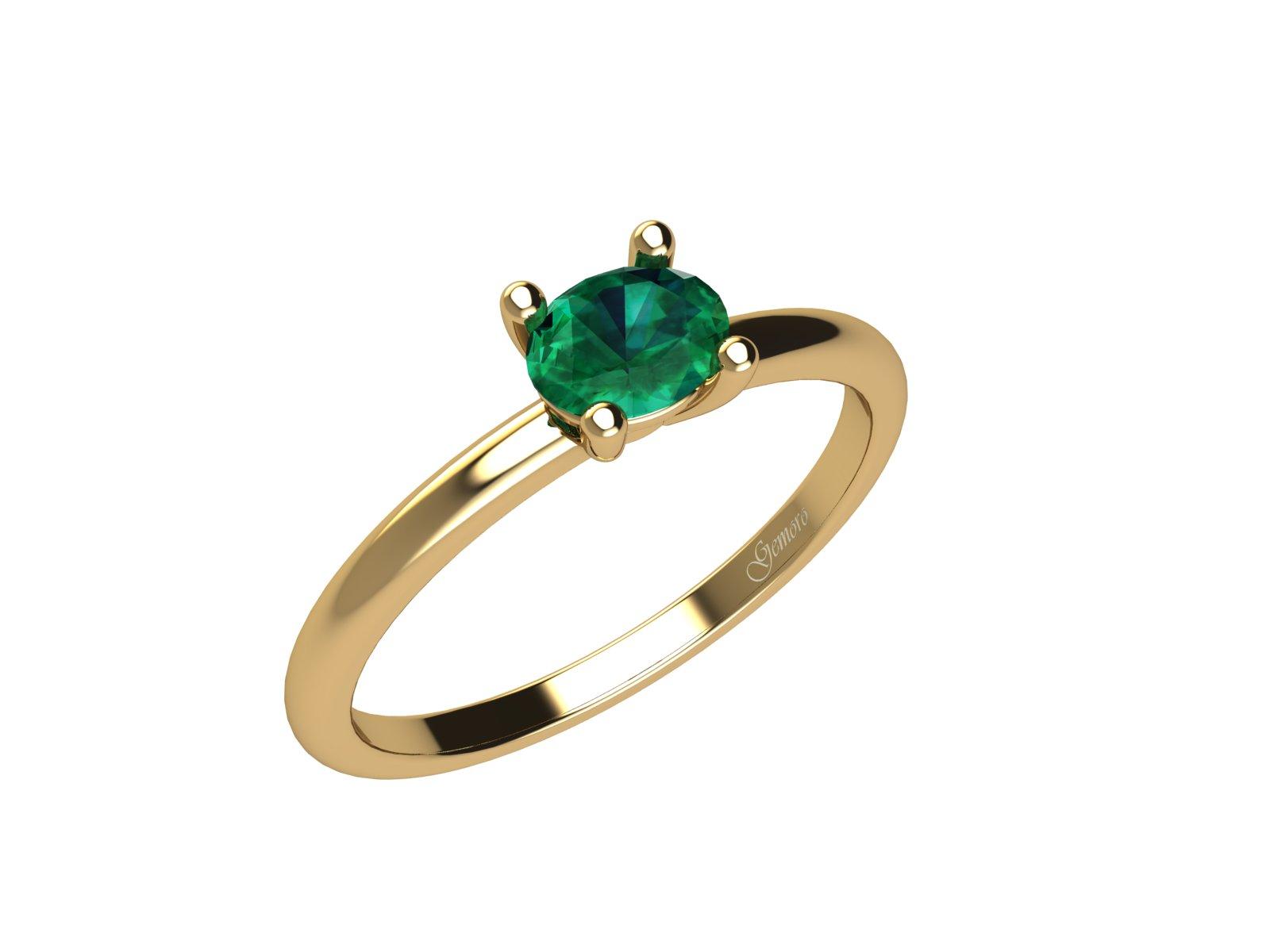 AC401GIA.SM – Anello in oro giallo 18kt con Smeraldo Naturale