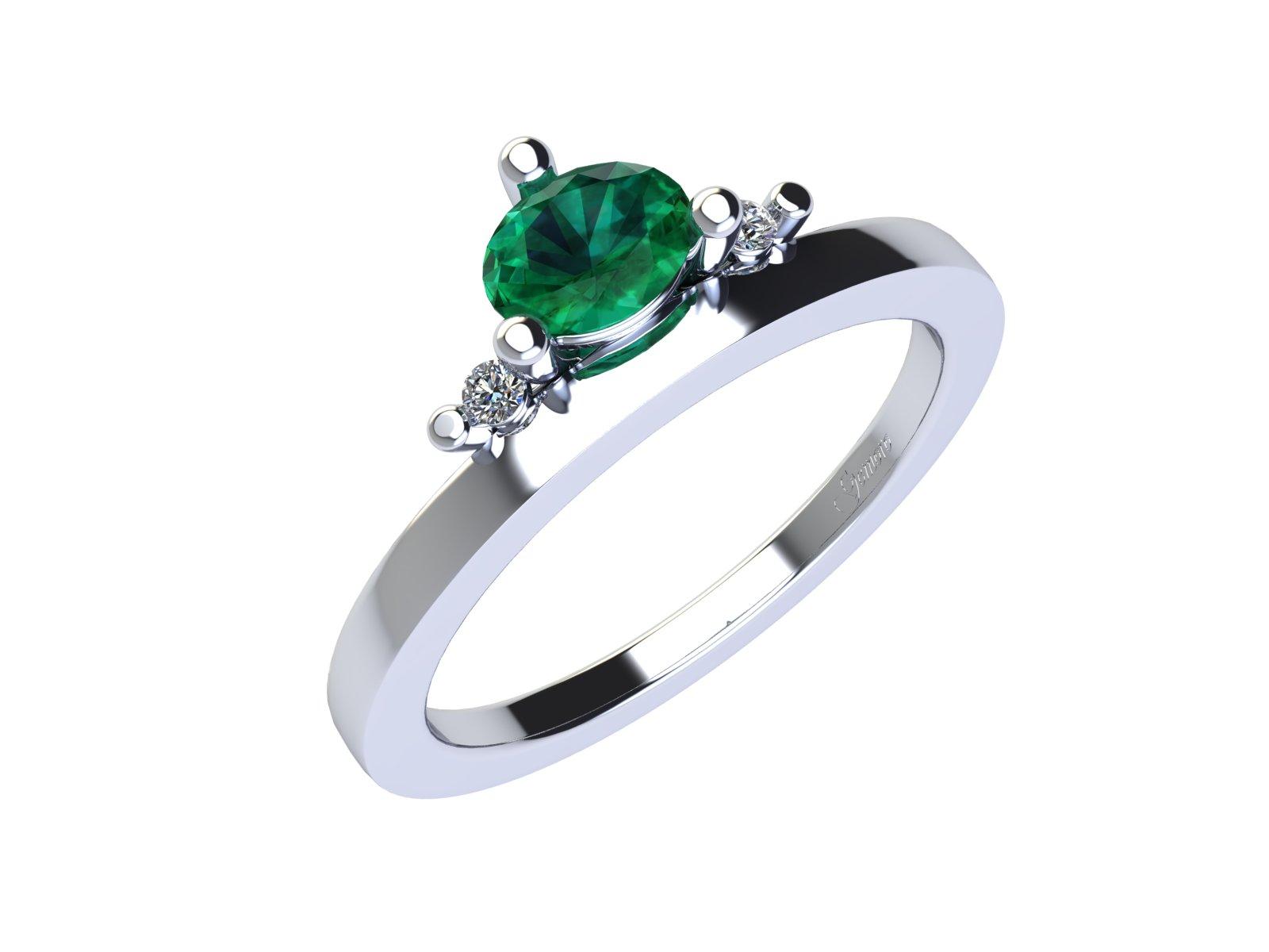 AC402BIA.SM – Anello in oro 18kt con Smeraldo Naturale e Diamanti Naturali