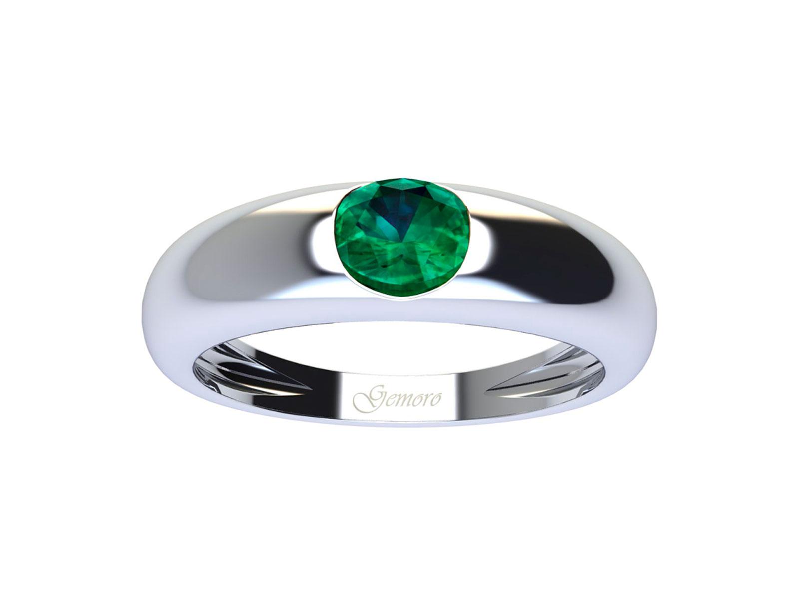 AC403BIA.SM – Anello in oro 18kt con Smeraldo Naturale