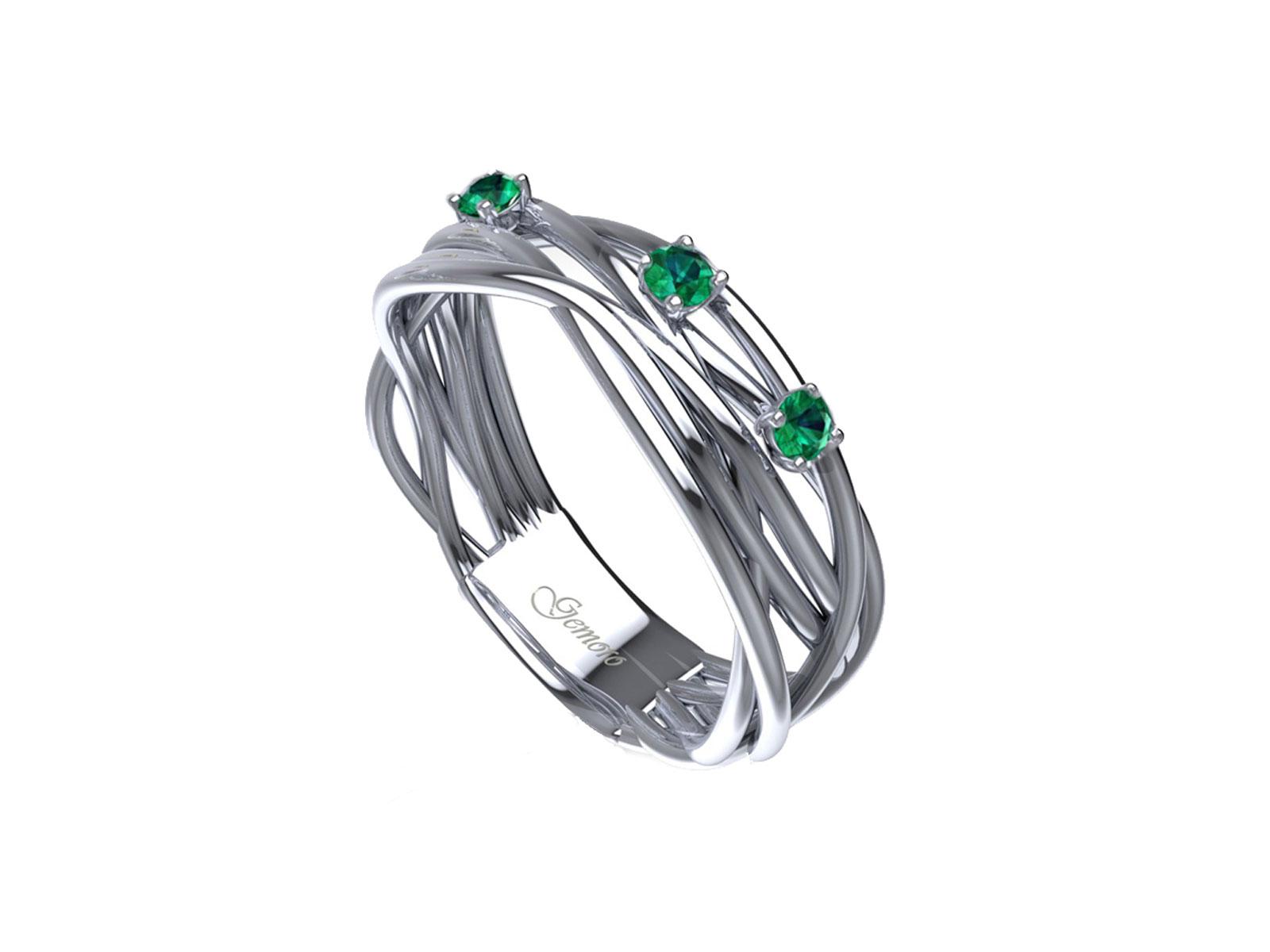 AC404BIASM – Anello in oro 18kt con Smeraldo Naturale