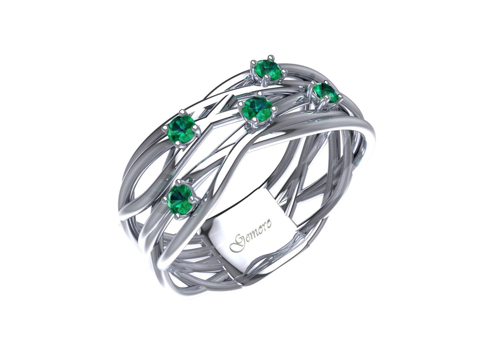 AC405BIASM – Anello in oro 18kt con Smeraldo Naturale