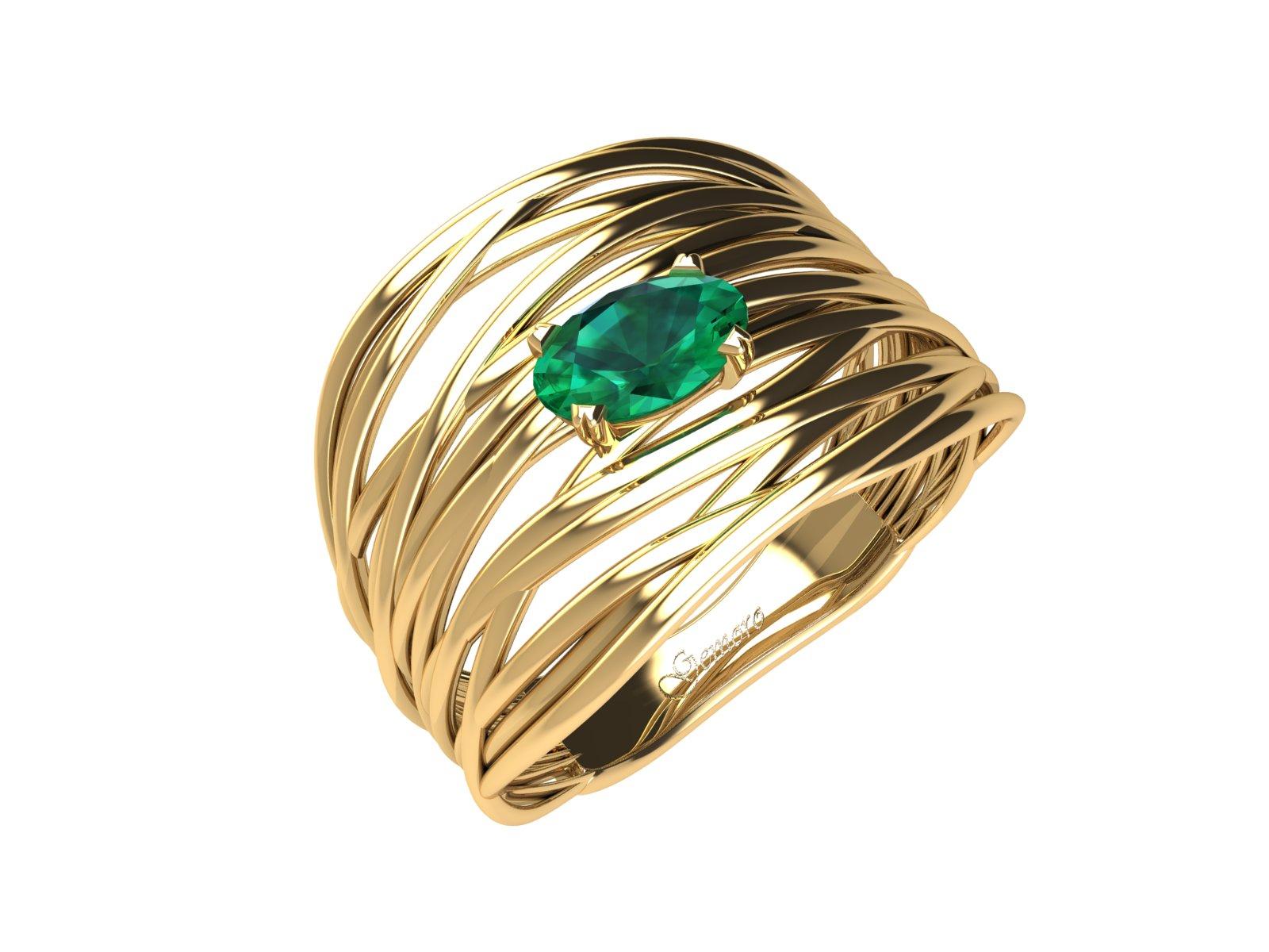 AC406GIA.SM – Anello in oro 18kt con Smeraldo Naturale