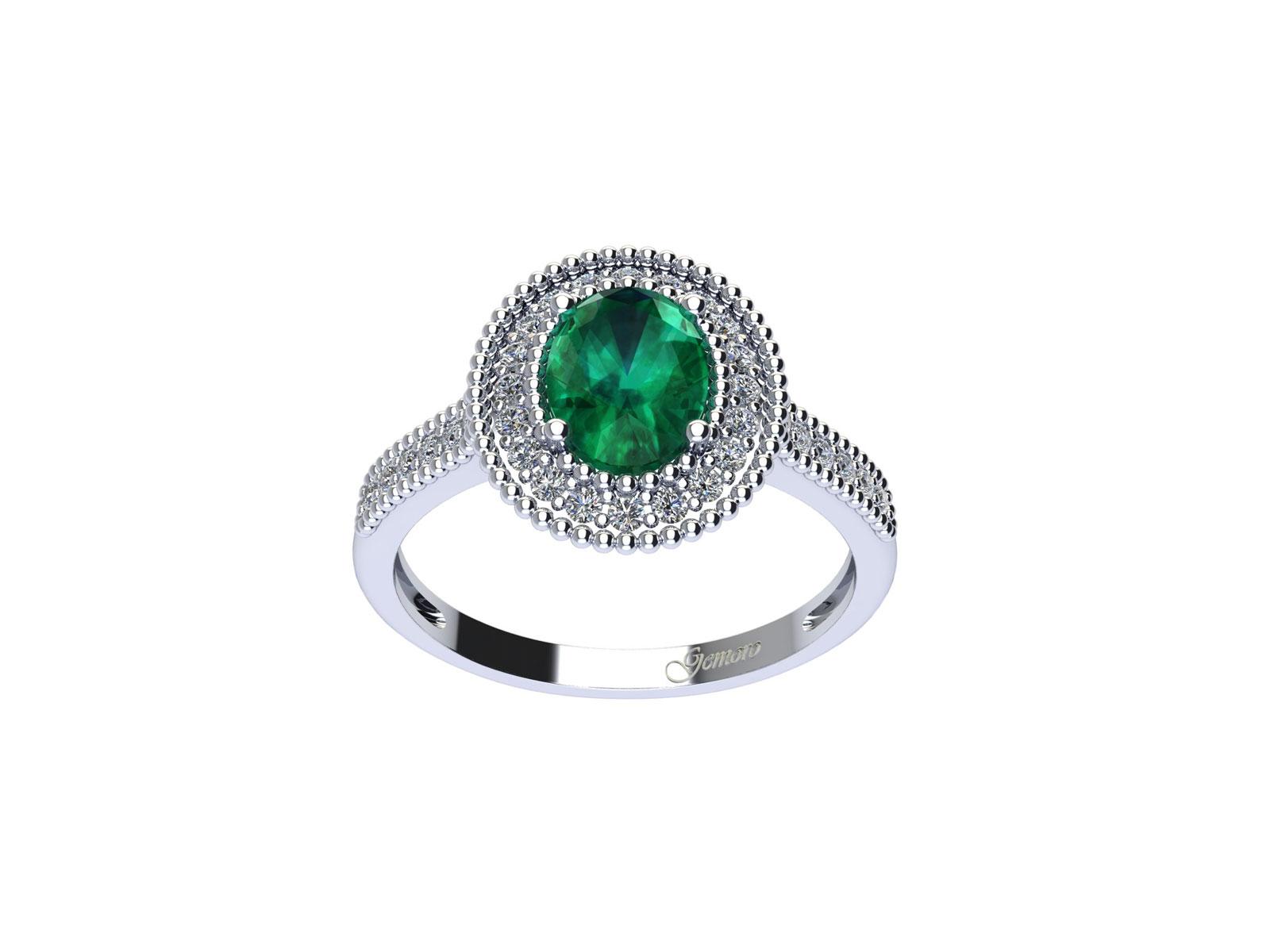 AC408BIA.SM – Anello in oro 18kt con Smeraldo Naturale e Diamanti Naturali