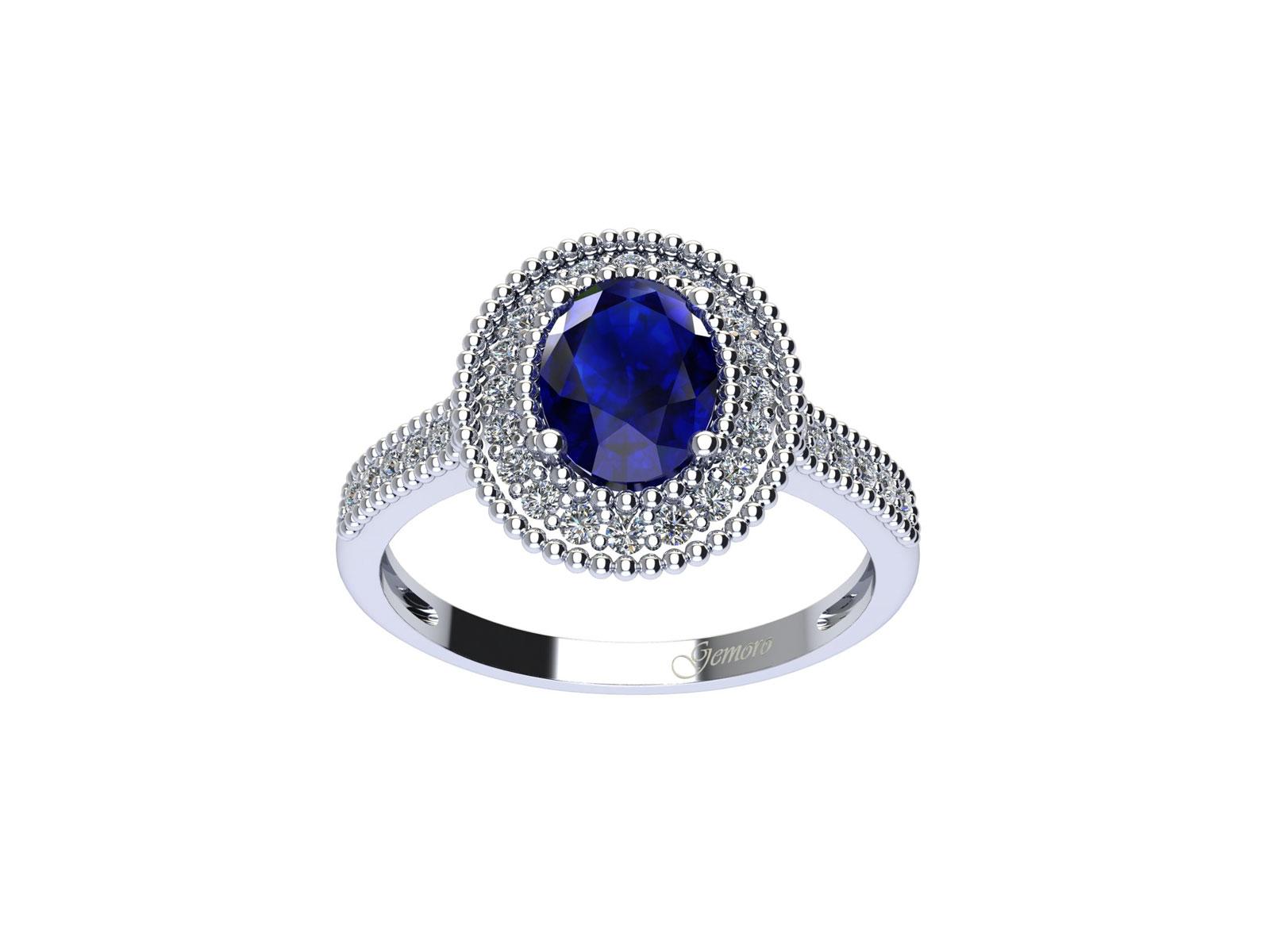 AC408BIA.ZF – Anello in oro 18kt con Zaffiro Naturale e Diamanti Naturali