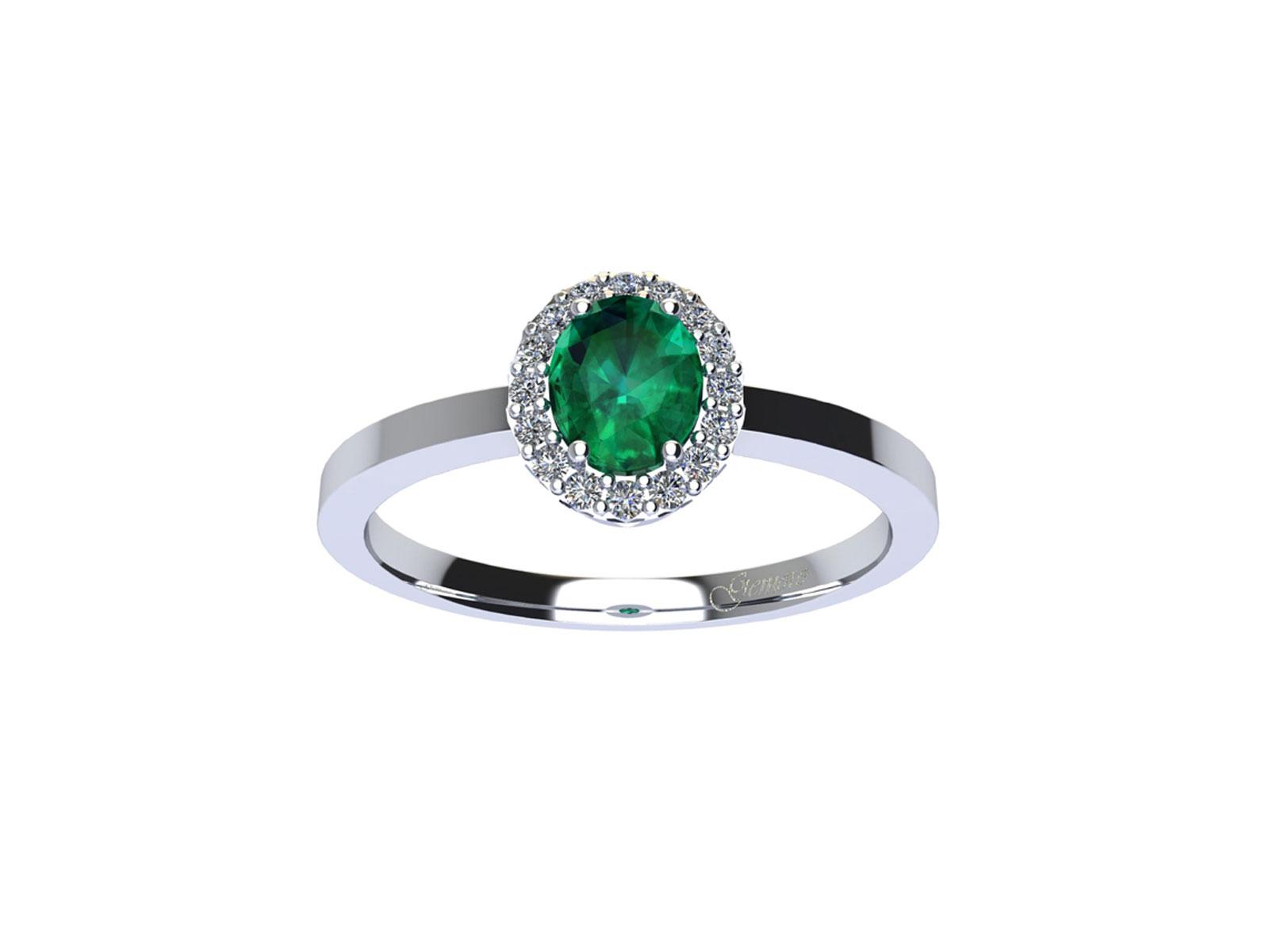 AC409BIA.SM – Anello in oro 18kt con Smeraldo Naturale e Diamanti Naturali