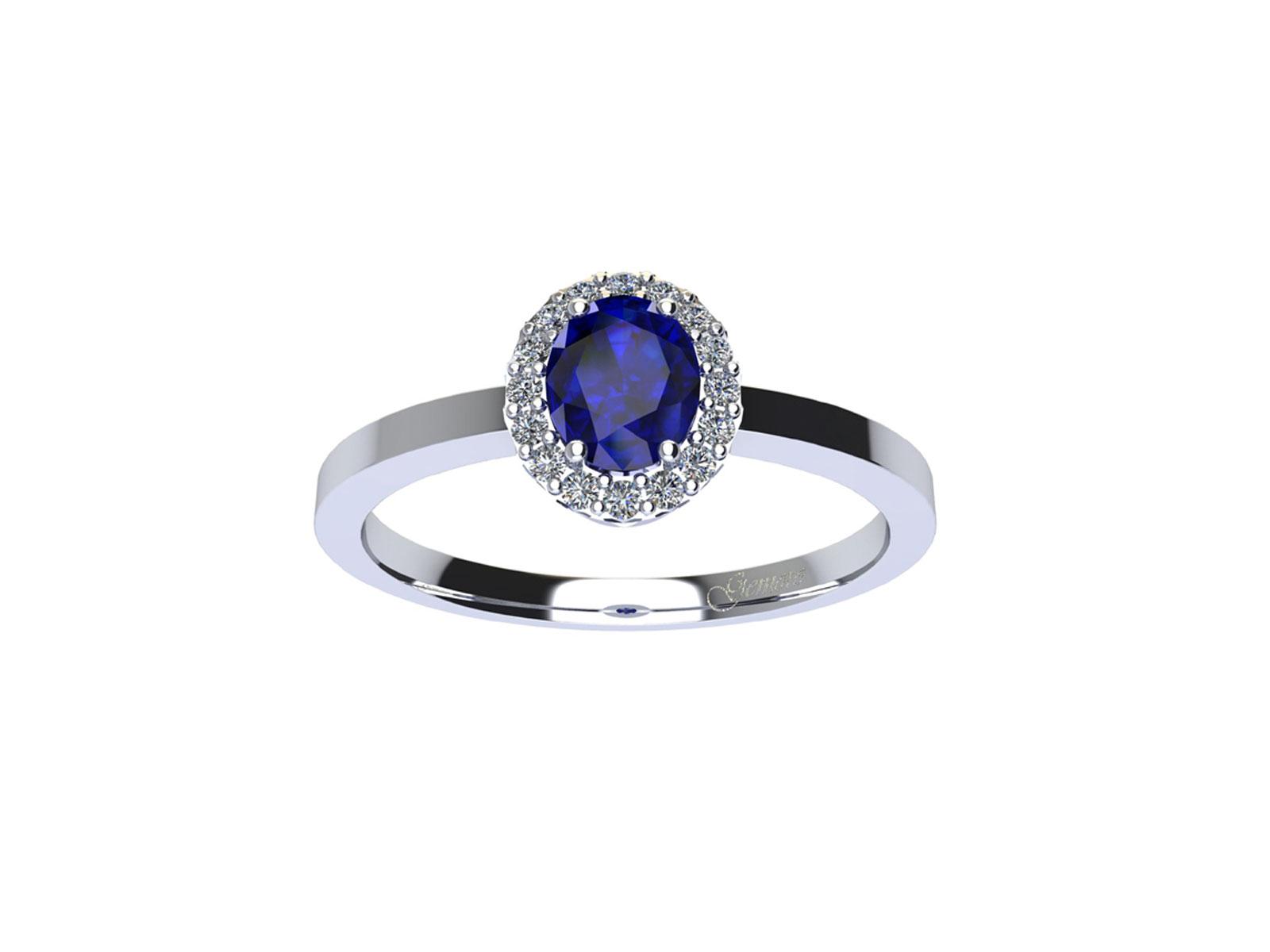 AC409BIA.ZF – Anello in oro 18kt con Zaffiro Naturale e Diamanti Naturali