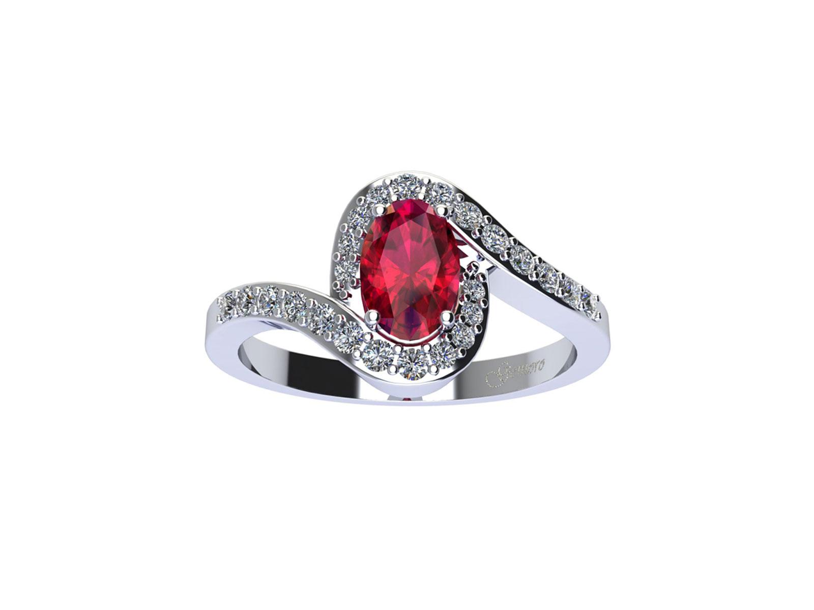 AC410BIA.RB – Anello in oro 18kt con Rubino Naturale e Diamanti Naturali