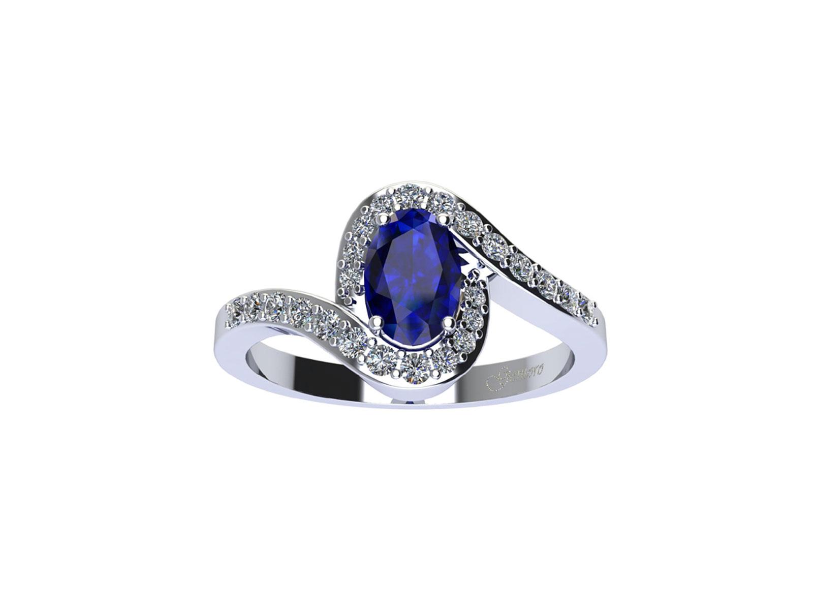 AC410BIA.ZF – Anello in oro 18kt con Zaffiro Naturale e Diamanti Naturali