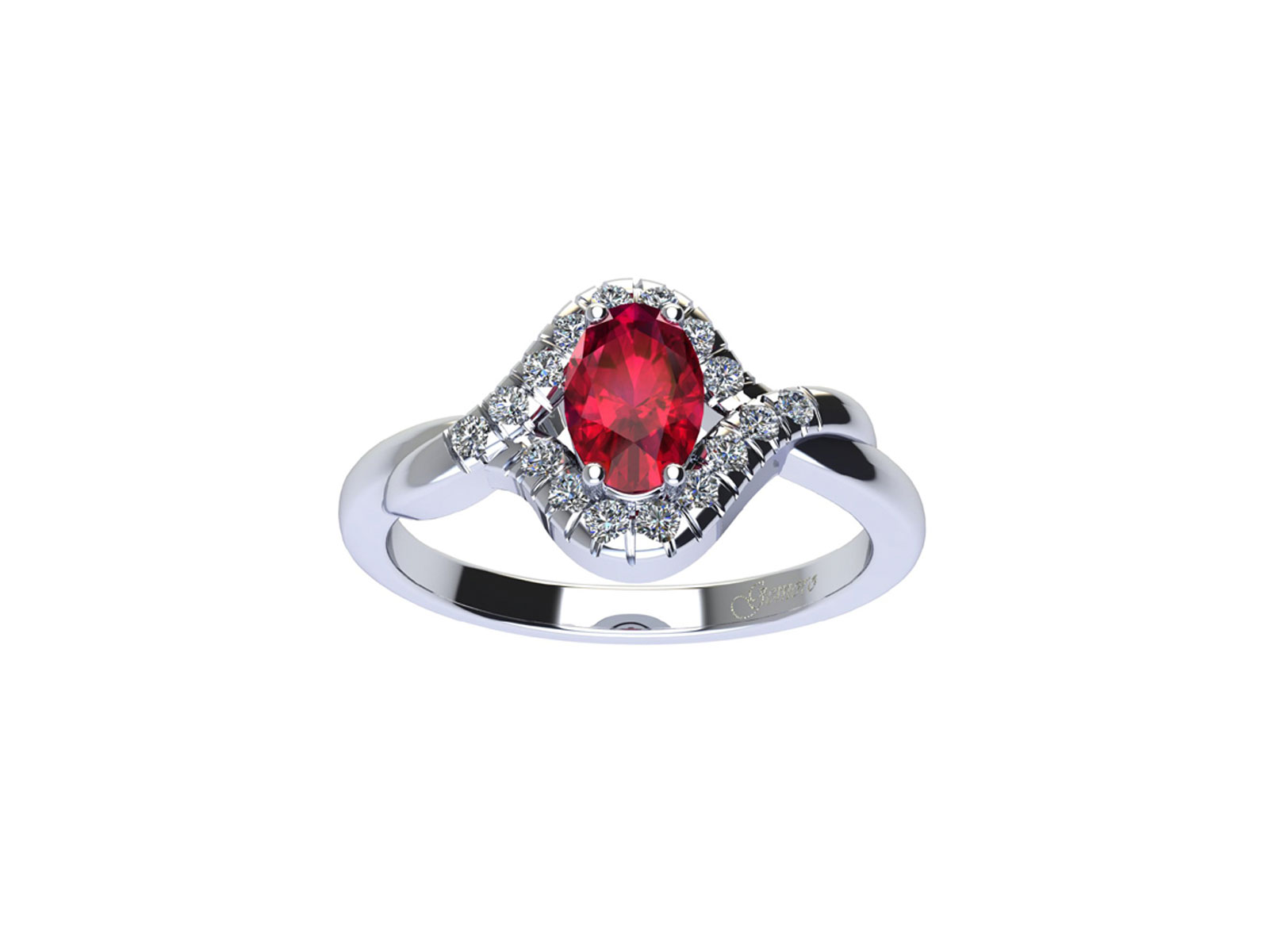 AC411BIA.RB – Anello in oro 18kt con Rubino Naturale e Diamanti Naturali
