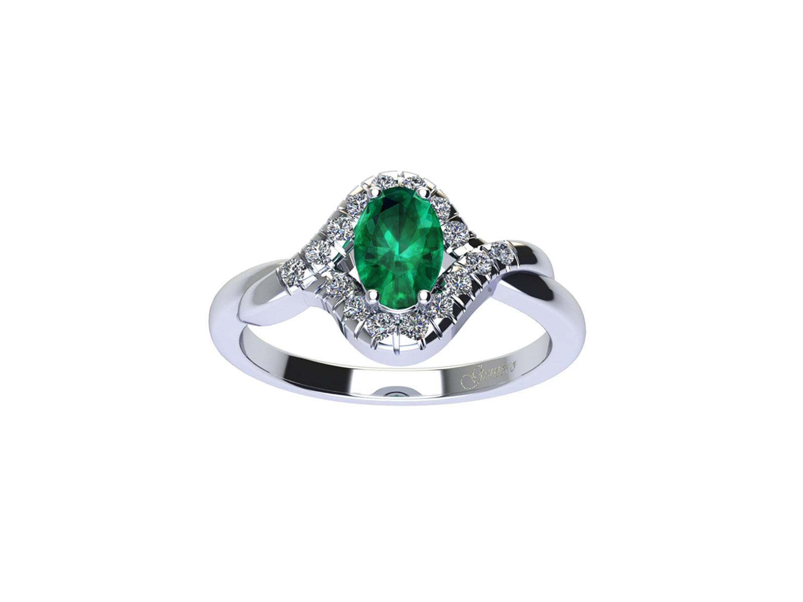 AC411BIA.SM – Anello in oro 18kt con Smeraldo Naturale e Diamanti Naturali