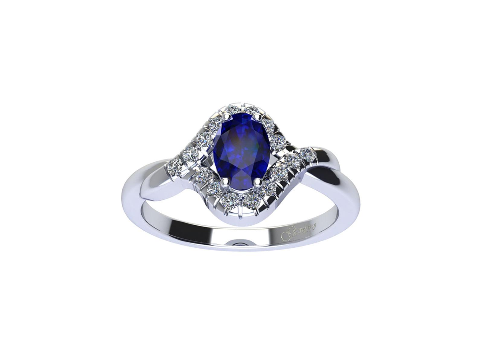 AC411BIA.ZF – Anello in oro 18kt con Zaffiro Naturale e Diamanti Naturali