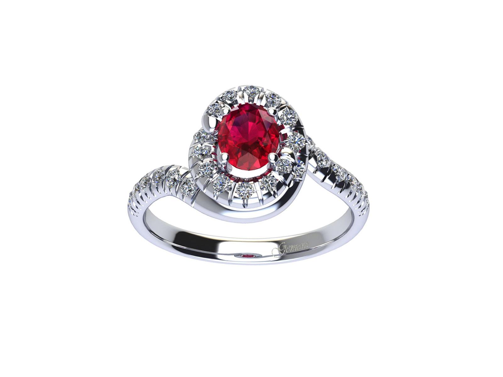 AC412BIA.RB – Anello in oro 18kt con Rubino Naturale e Diamanti Naturali