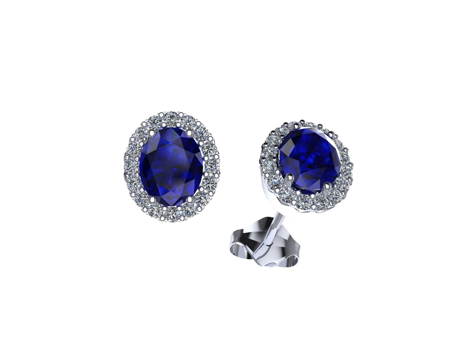 OC095BIA.ZF – Orecchini in oro 18kt con Zaffiro Naturale e Diamanti Naturali