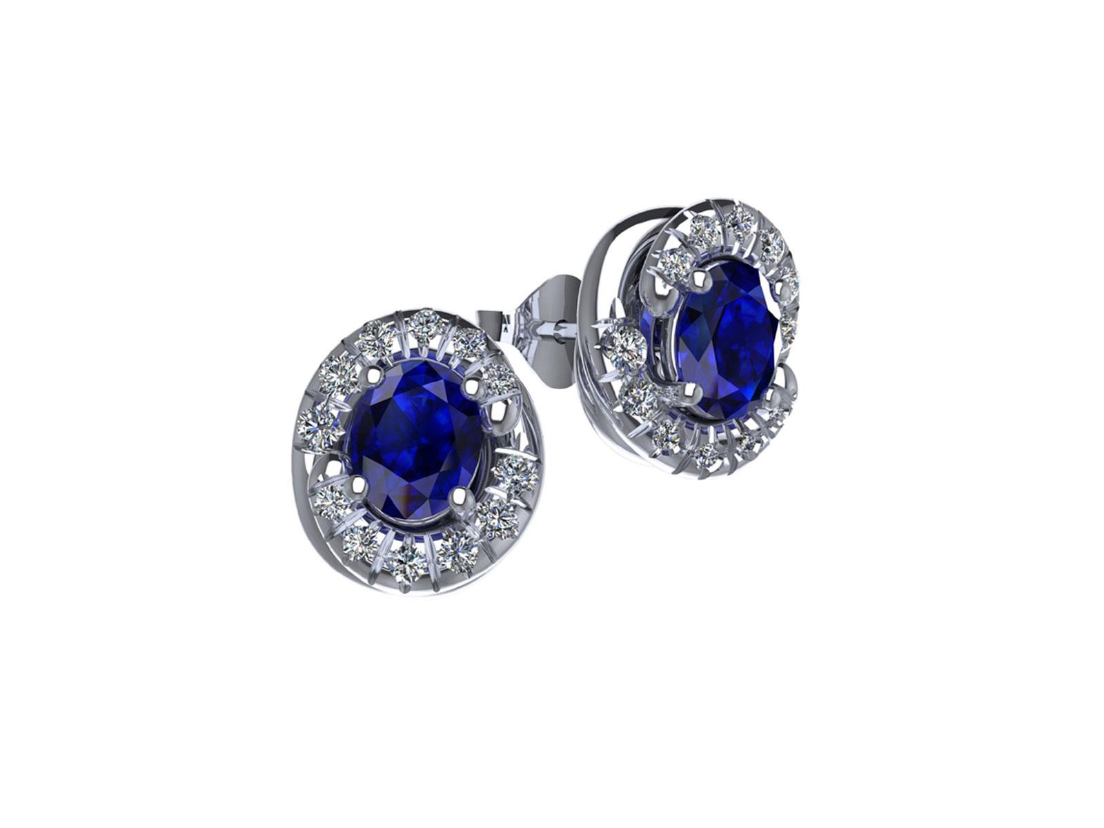 OC096BIA.ZF – Orecchini in oro 18kt con Zaffiro Naturale e Diamanti Naturali