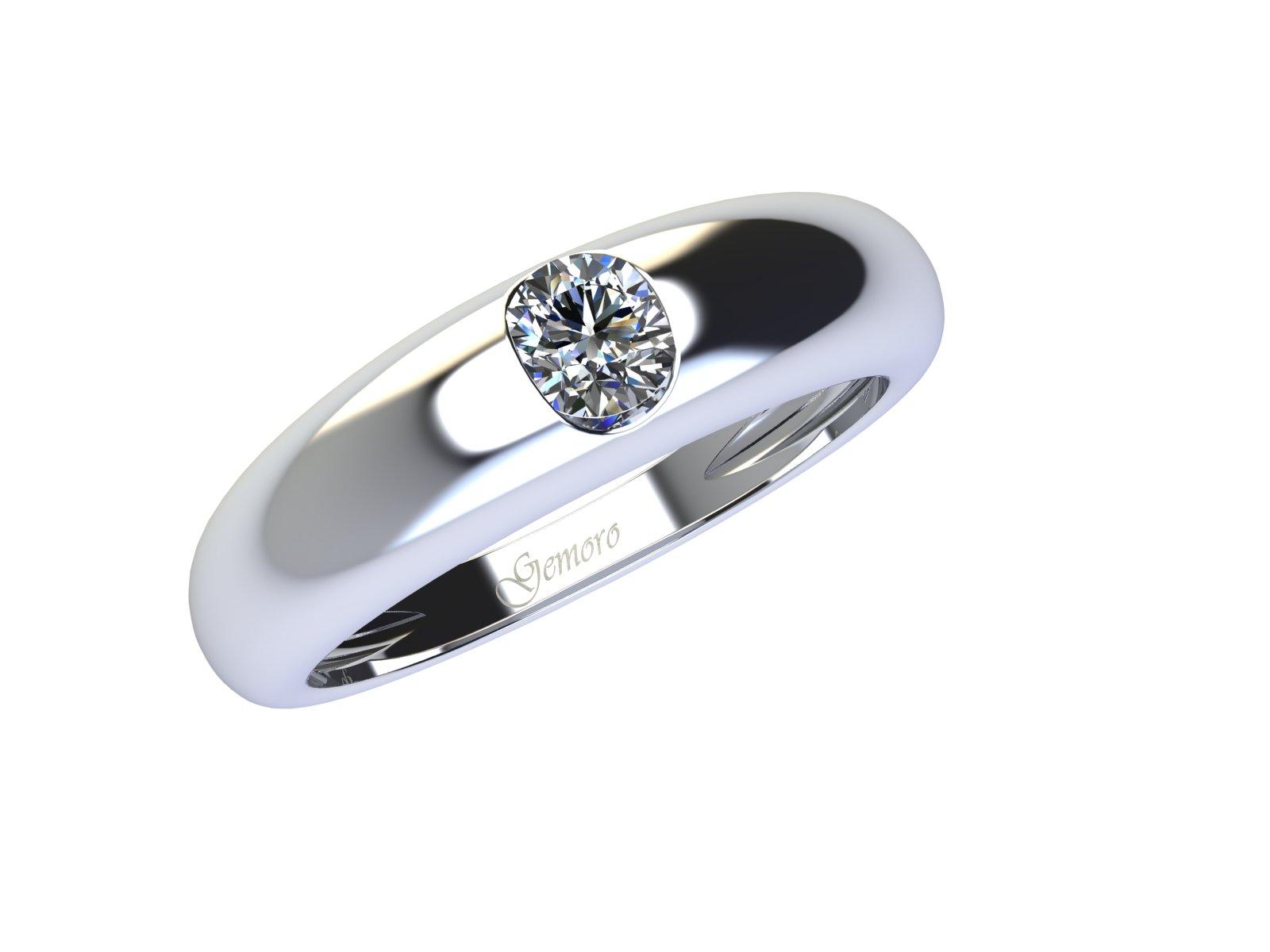 SS737BIA.08 – Anello in oro 18kt con Diamante Naturale taglio Brillante