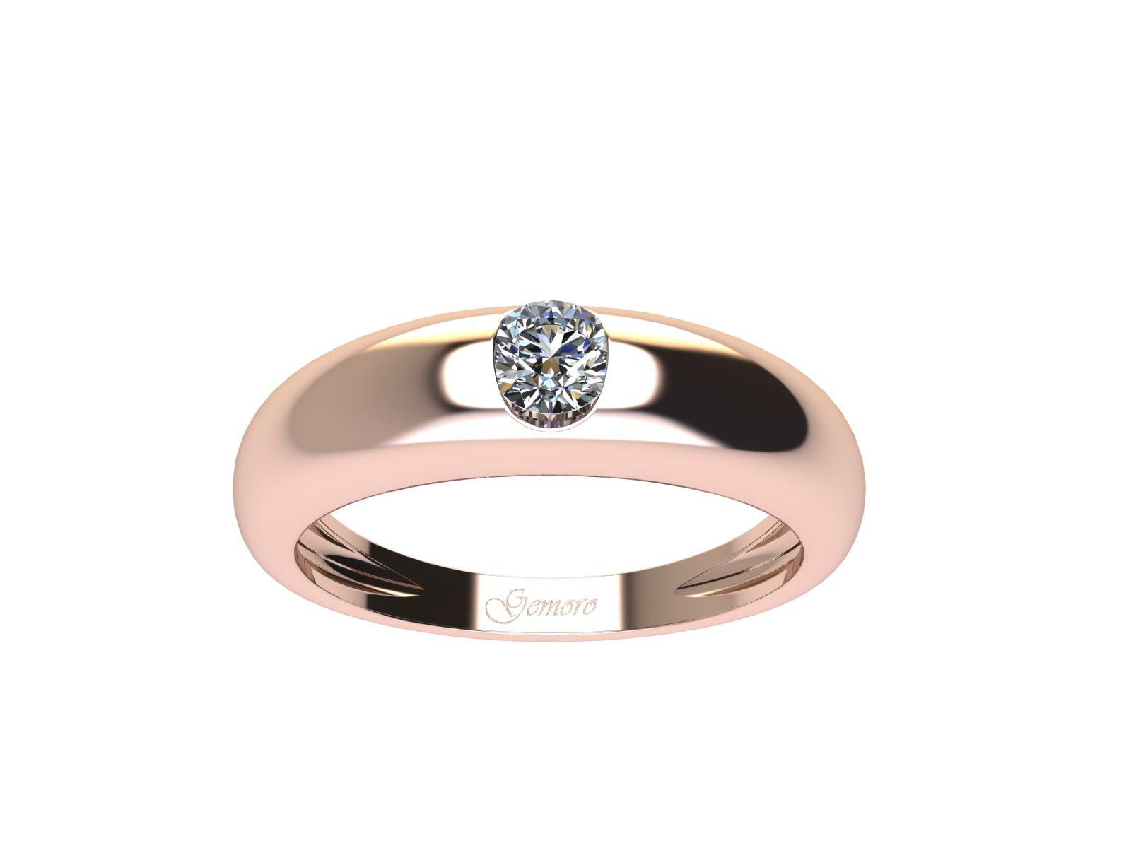 SS737ROS.08 – Anello in oro rosa 18kt con Diamante Naturale taglio Brillante