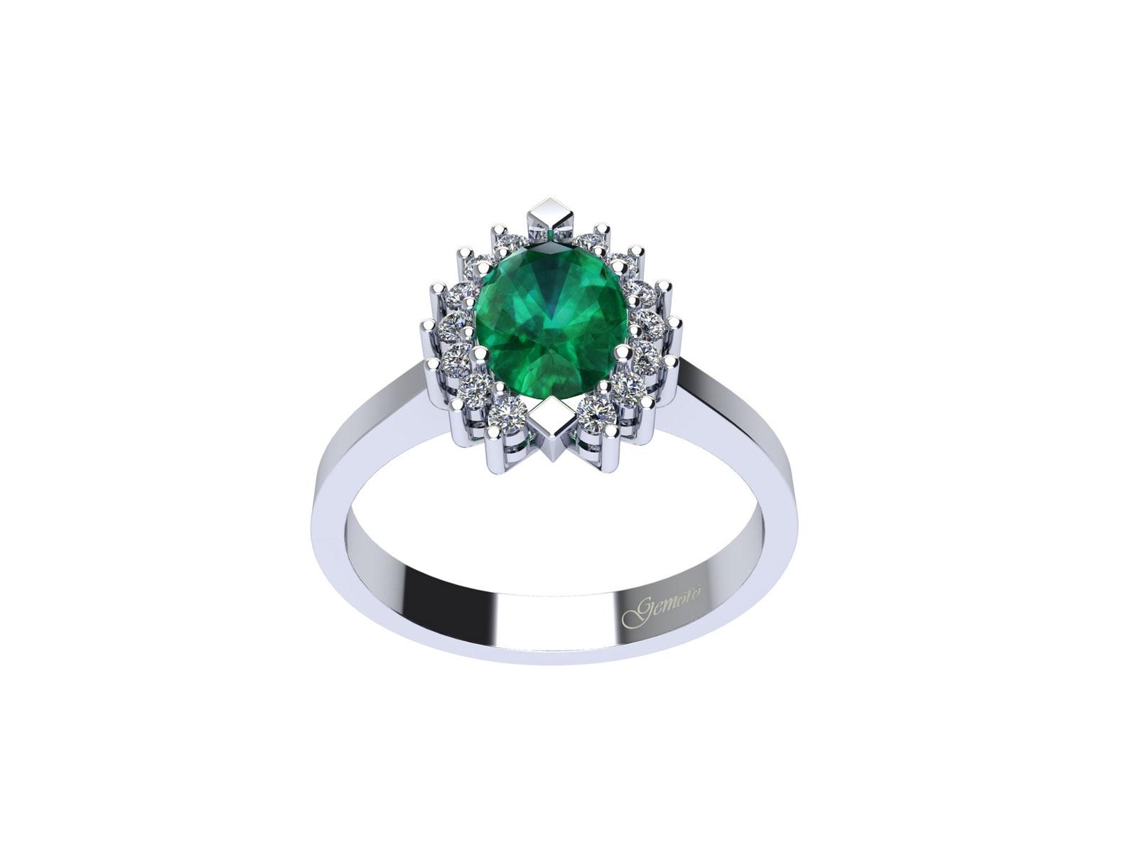 AC397BIA.SM – Anello in oro 18kt con Smeraldo Naturale e Diamanti Naturali